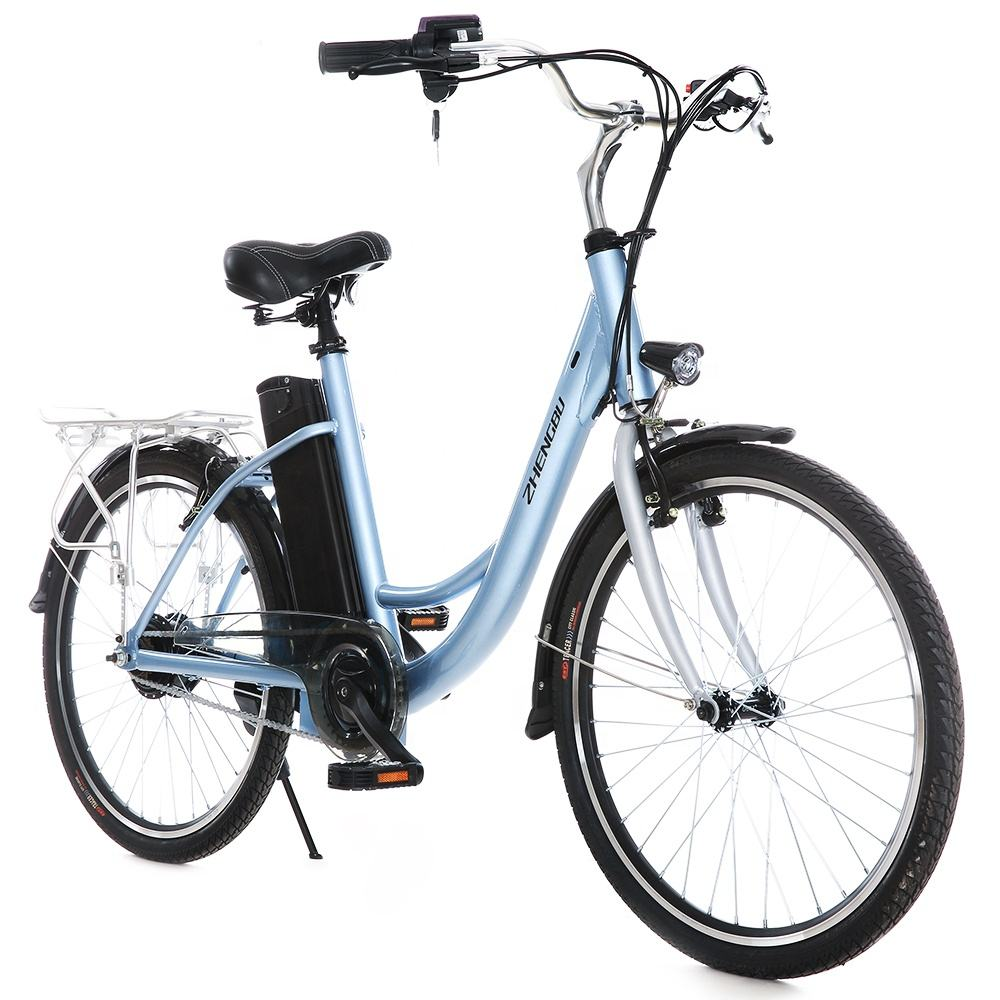 Adult steel frame city bike electric bicycle 26 inch bicycle