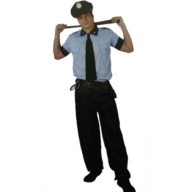 Plus Size New York Cop Mens Fancy Dress Outfit Hat L-XXXL Costume New