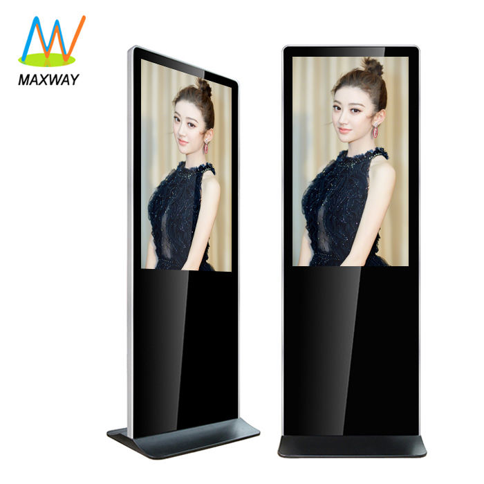 Floor Standing Advertising Digital Signage 43 Inch Vertical Display Tv Stand Lcd Screen Information Kiosk