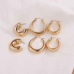 2020 Minimalist Jewellery  Simple Gold Silver Hoop Earrings  Ear Rings