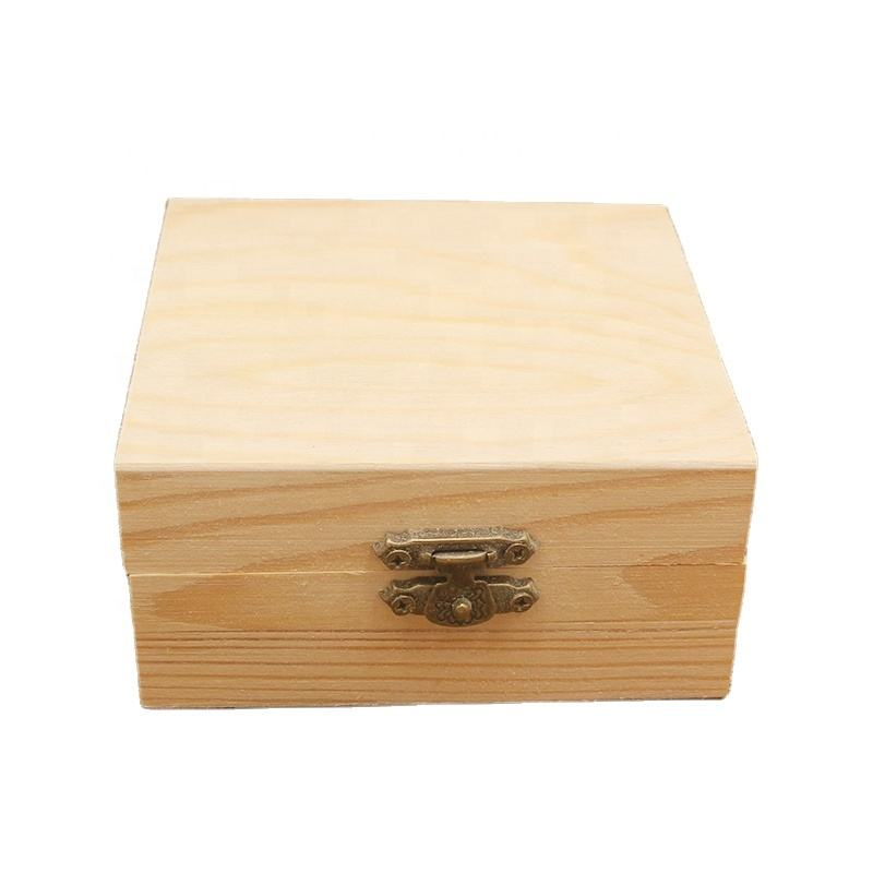 diy rustic vintage honey storage jewelry tool craft hinged lid rectangular square antique wooden gift box