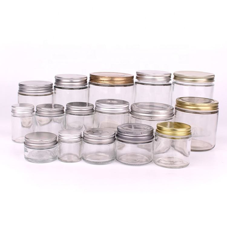 honey jar 4oz custom design glass jar cheap jam jars with metal lids