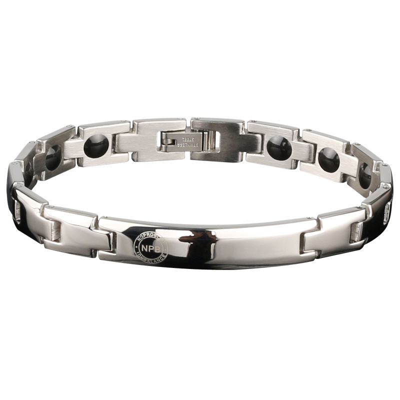 Logam Siliver Power Pesona Fashion Turmalin Germanium Titanium Gelang