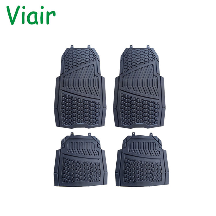 Dustproof skidproof improve the safety of driving Universal Fit 4-Piece Full Set PVC car mats Floor Mat
