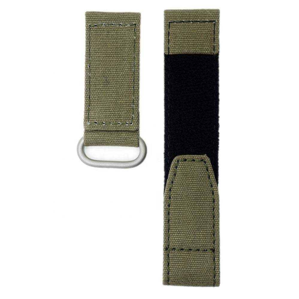 Custom Size Color Sports 20mm 22mm Nylon Band Hook and Loop Fastener Canvas Watch Strap