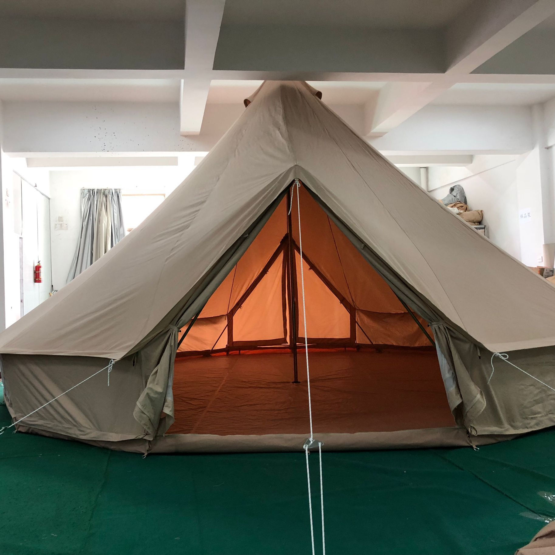 Cotton canvas bell tent Double Door for commercial glamping operations