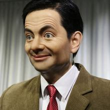 Lifesize Celebrity Mr. Bean Silicone Statue Movie Star Wax Figures