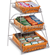 3 Tiers Portable Corner Storage Holder Make Up Organizer Cosmetic Shelving Rack