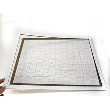 A3 frame puzzle  jigsaws Printable Blank Sublimation Wood  Puzzle with frame and tray