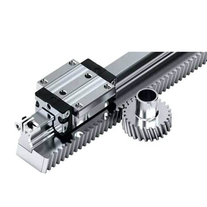 China supplier customized steel alloy gear rack and pinion for cnc parts router robot automatic smart storage