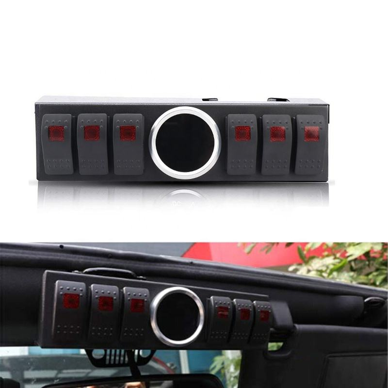 Control Box System 6 Rocker Switches Panel With Wiring Harness Voltage Meter For Jeep Wrangler Jk Buy Jk 6 Rocker Switches Panel Voltage Meter Switch Panel Control Box System Switch Product On Alibaba Com