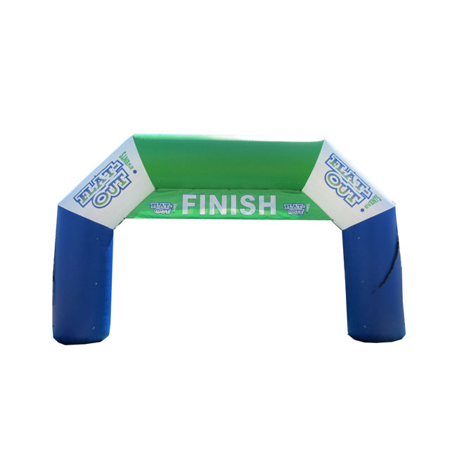 Custom logo printed inflatable finish arches S5039