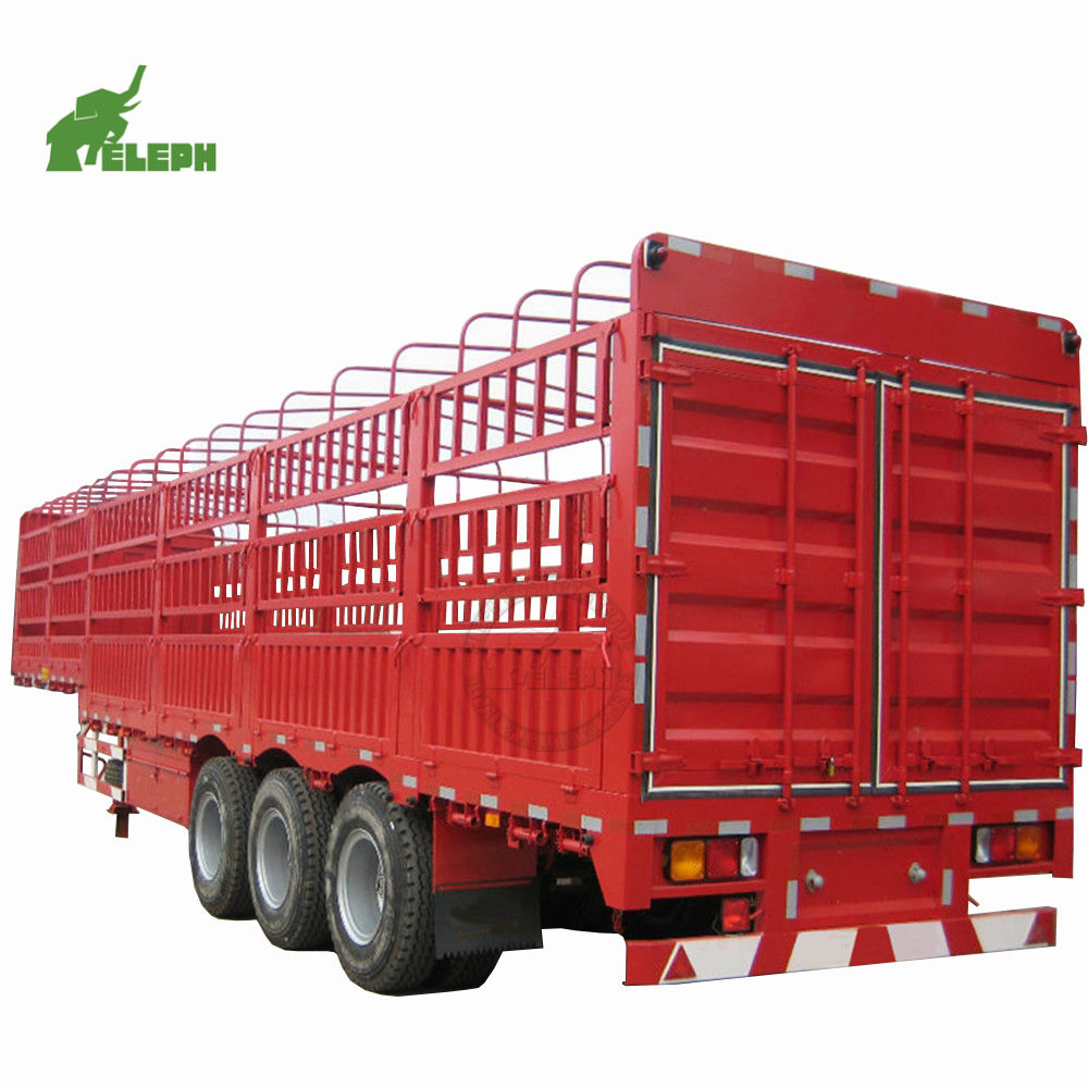 2 axle 3 axles 40ton 30ton 50ton 60ton fence store house bar stake horse sheep truck semi double deck livestock trailer for sale