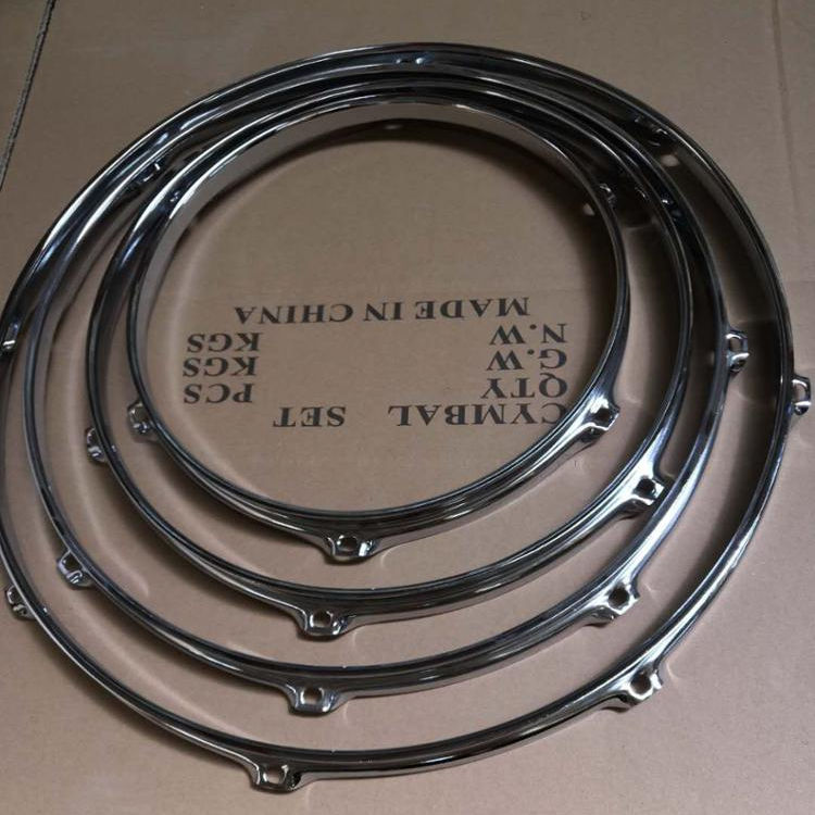 Acoustic Drum Set Triple Flange Steel Hoops
