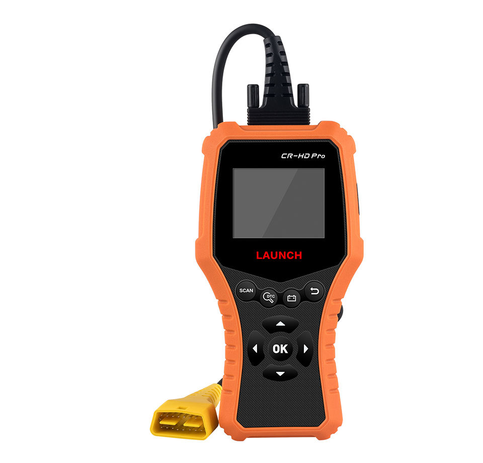 Launch Creader Cr-HD Pro Heavy Duty Code Scanner For 24v Trucks can read and clear fault code with multi-languages
