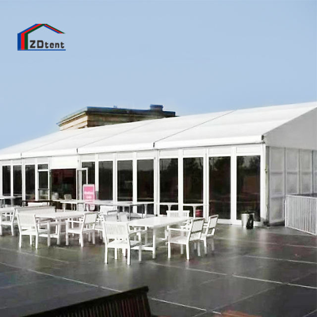 Transparent glass wall marquee outdoor high quality soundproof business banquet tent