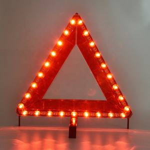 51PCS LED light warning triangle accessory plug/batteries LED warning triangle