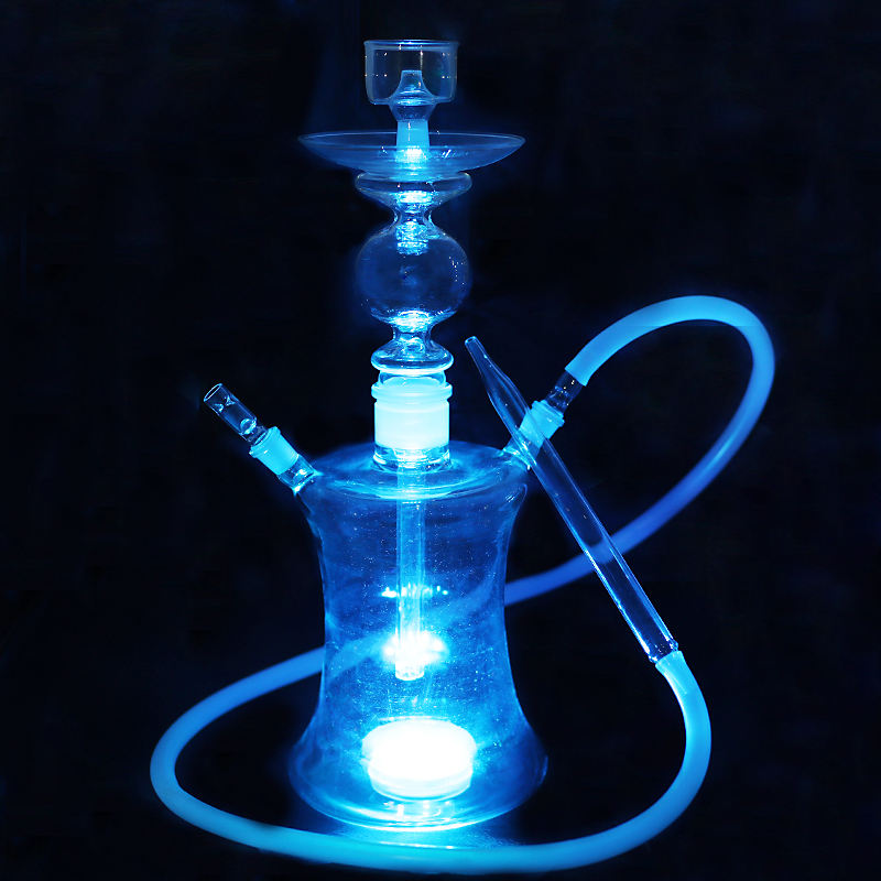 Handmade all clear nargile glass hookah shisha hookah with light