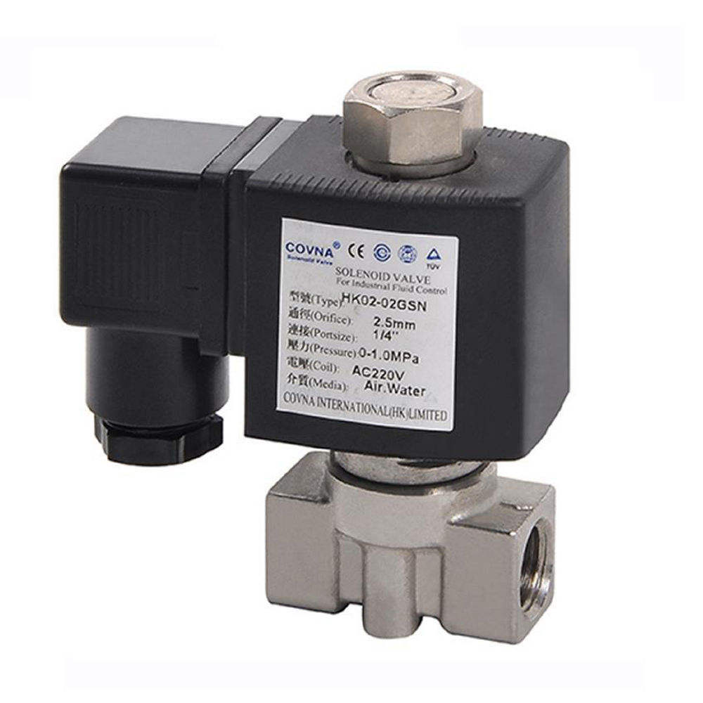 "1/"" inch Electric Solenoid Valve AC 220V Water Air Gas Air Suspension NC"