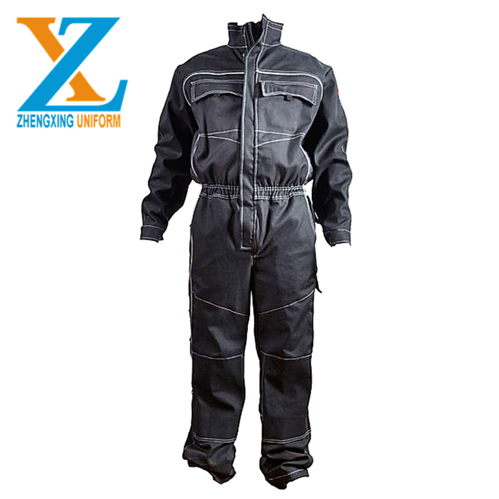 Custom logo fire retardant CVC workwear coveralls