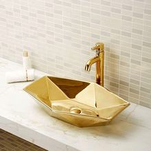 golden countertop ceramic sinks bathroom unique wash basin