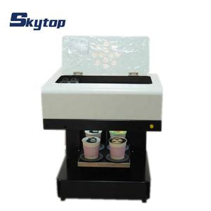 4 cups coffee printer printing machine for DIY coffee, cake, milktea, pizza, chocolate, cocktail