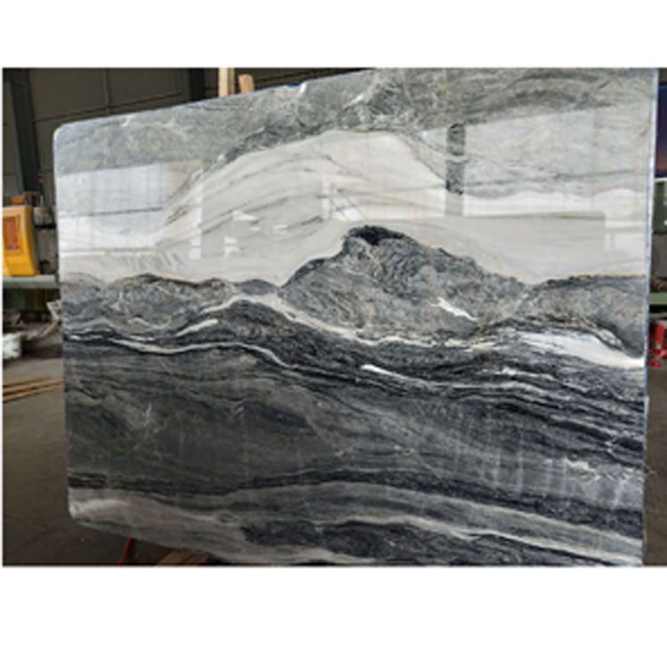 Blue Totem Grey Marble Stone,Polished Marble with white vein