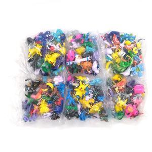 144 пакеты Покемон Мини Мастер фигурки полный набор Pop-Up Pocket Monster Go игры вентиляторы для детей игрушка в подарок