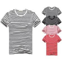 China Manufacturer Wholesale 100% Polyester Striped T-Shirt For Men