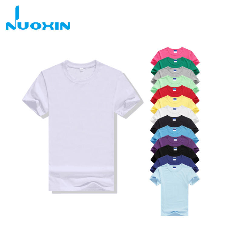 nuoxin high quality white 50/50 cotton polyester round neck t shirt