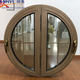 China semi circular aluminum wooden round pivot window