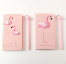 Flamingo Notebook Set 2019 Note Book With Pen Set Diary Day Planner Kawaii Journal Stationery School Supplies Study Gift Tools