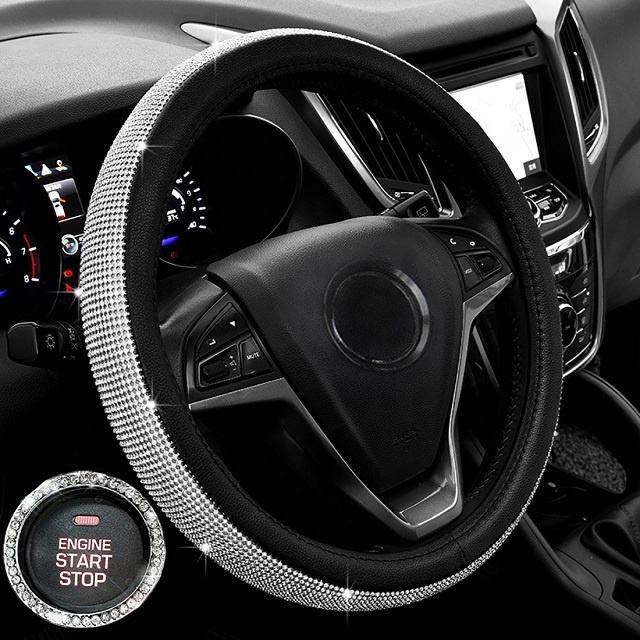 1PC Winter red soft warm plush velvet car steering wheel cover auto car decor TM