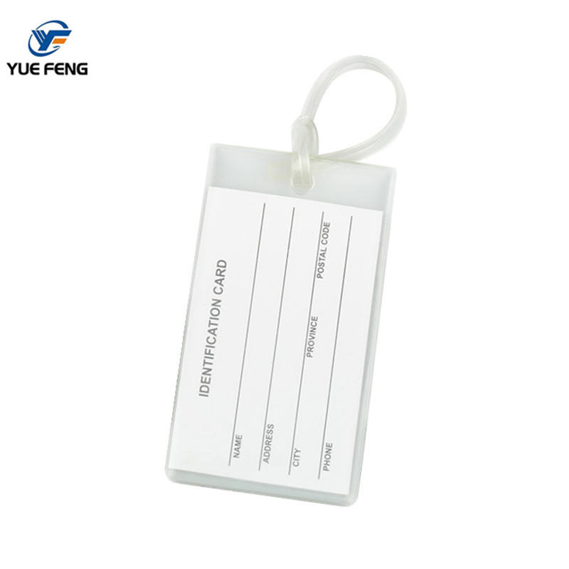 Free sample personalised custom luggage tags