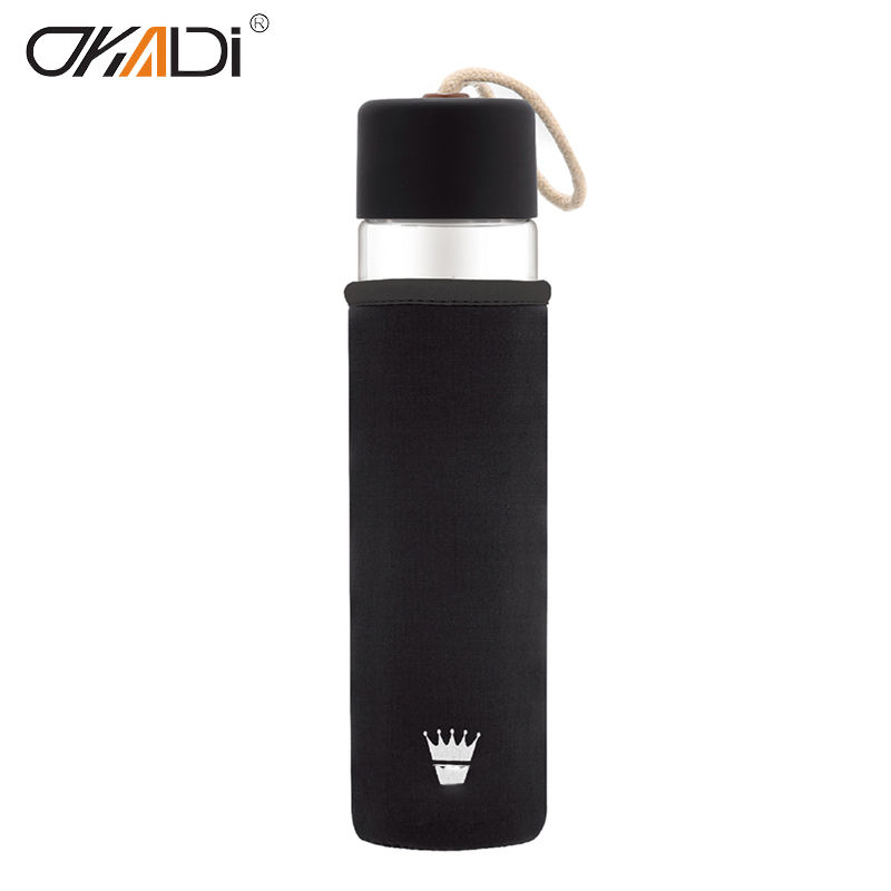 2019 16 oz 인기있는 borosilicate (gorilla glass) waterbottle 맘 voss 물 병 (gorilla glass) 500 ml