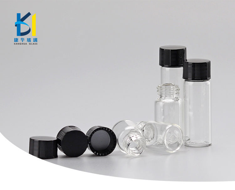 1ml 2ml 3ml Small Glass Vial Tubes Essential oil Packaging Screw Cap 5ml