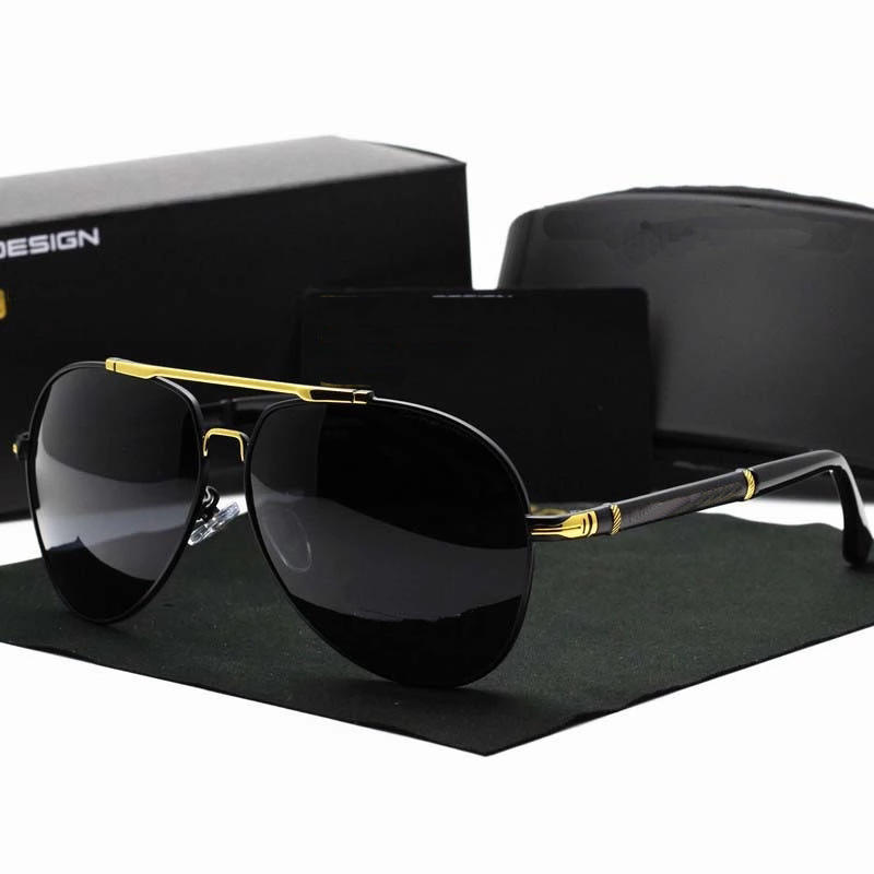 Classic High End Sunglasses Polarized Men Driving Sun Glasses For Brand Design Mirror Eyewear Male