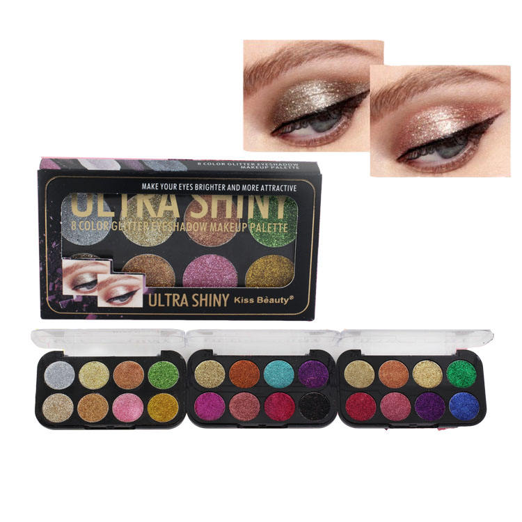 Hoge Kwaliteit Make-Up Palet Private Label Cosmetica Glitter Sombra De Ojos