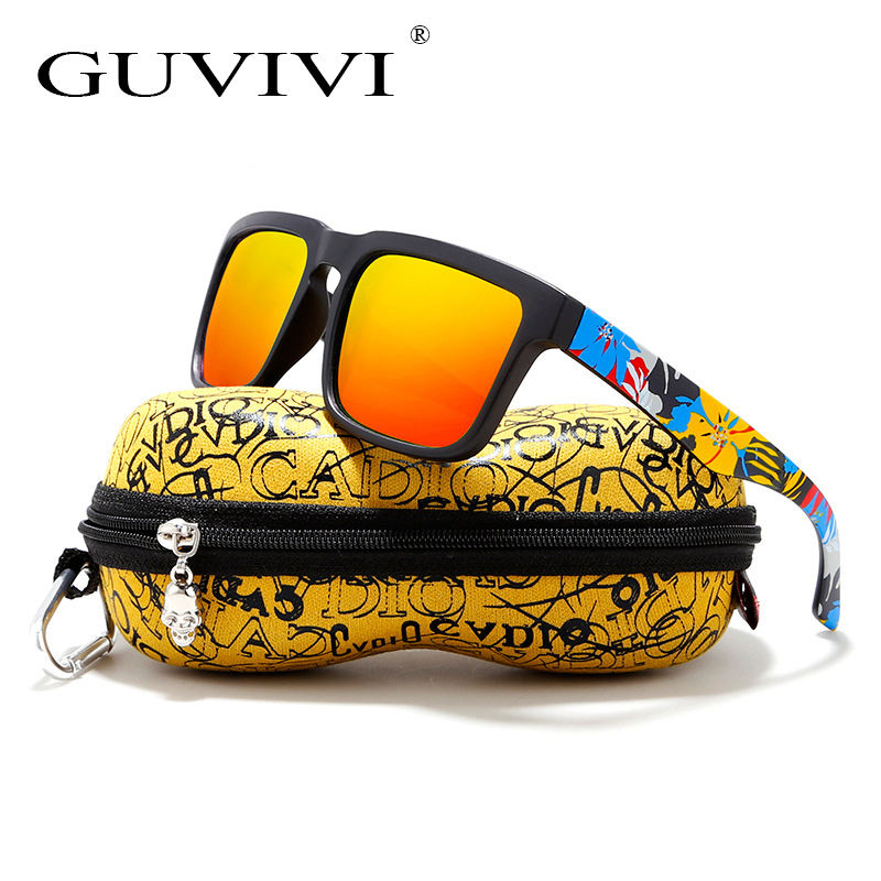 GUVIVI New sunglasses with box men polarized sport sunglasses custom logo men's sunglasses with case