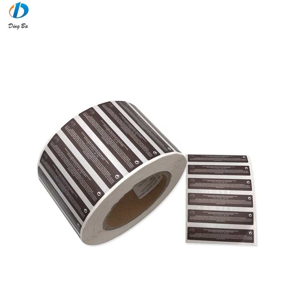 Manufacture Wholesale Custom Private Adhesive Package Sticker Roll Logo Print Labels for Paper Bags