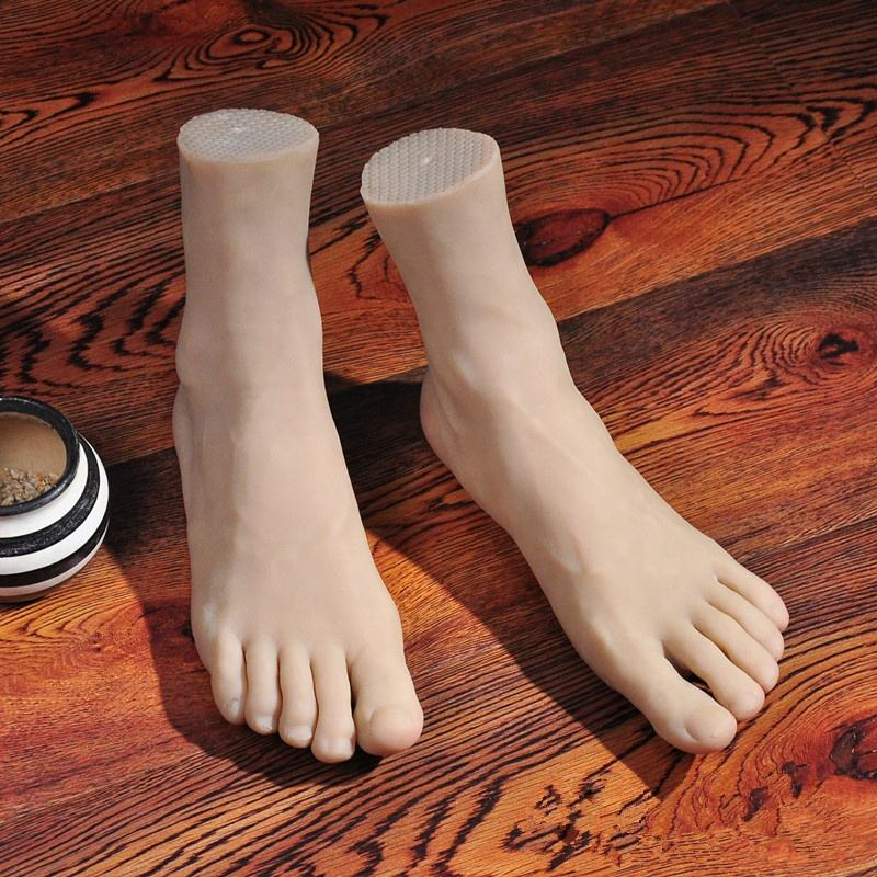 Factory Direct Sell Sexy Lifelike Foot Mannequin Man Silicone Foot Model
