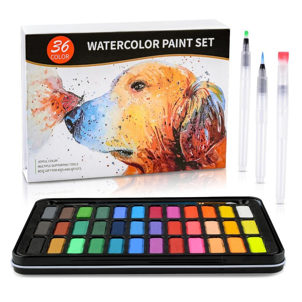 2019 Amazon Hot Selling New Packaging 36colors Watercolor Paint Set Without Any Private Brand