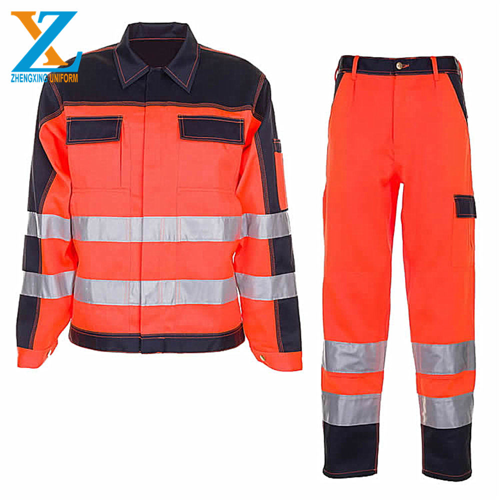 Hi Vis Yellow / Navy Winter Roadway Security Freeze Reflective Waterproof 3 in 1 Safety Jacket