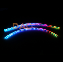 2019 New RGB Slim Sequential Flexible LED DRL For Headlight Strip Daytime Running Light with Remote Control 12V RGB Dynamic DRL