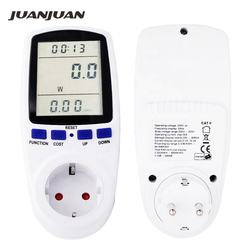 EU Plug Electricity Power Energy Watt Voltage Amps Volt Current Meter Analyzer with Usage Monitor