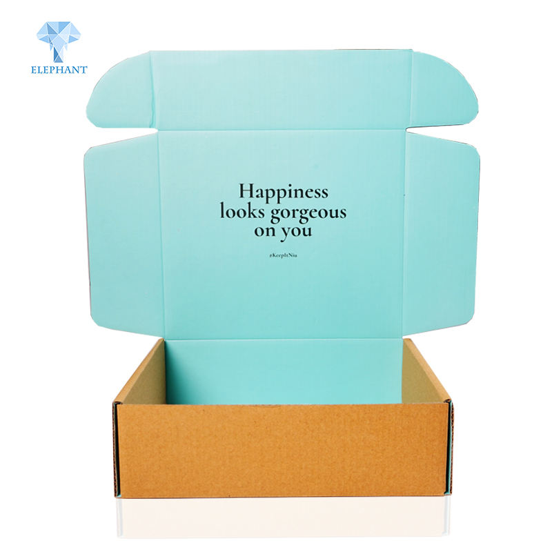 Package Mini Design Logo Blue Hard Paper High Quality Cardboard mailer Box