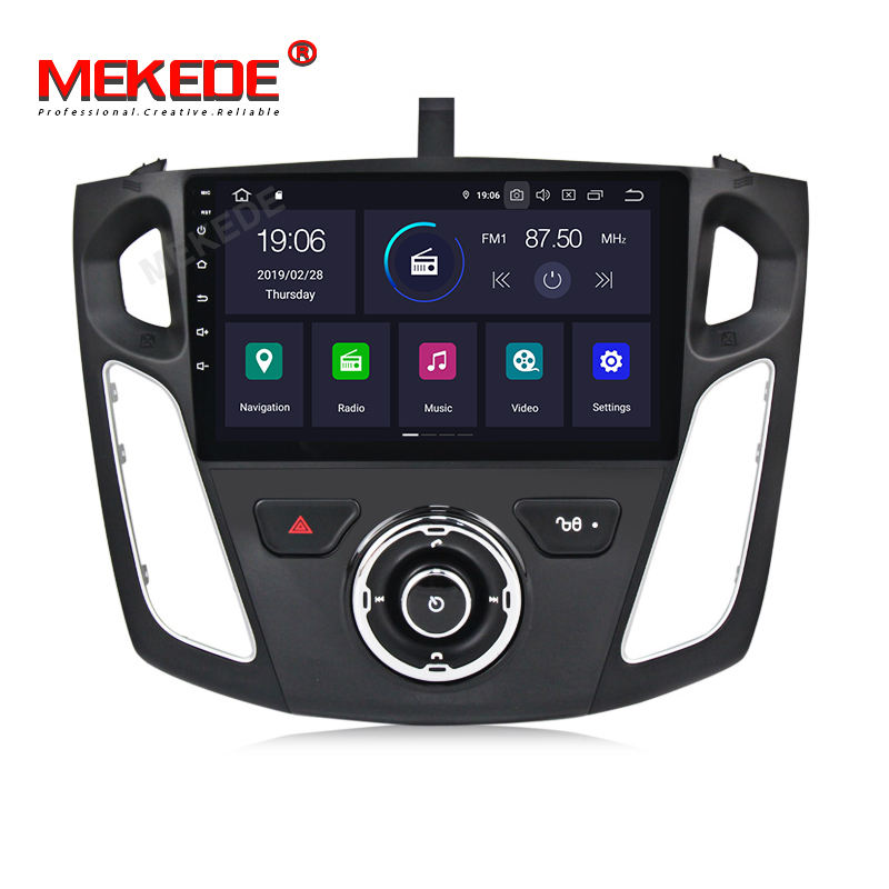 "Mekede 9"" 2+16GB PX30 IPS Screen+DSP Android9.0 Car Video Radio Stereo for Ford Focus 2012-2015 GPS System Car Audio Player SWC"