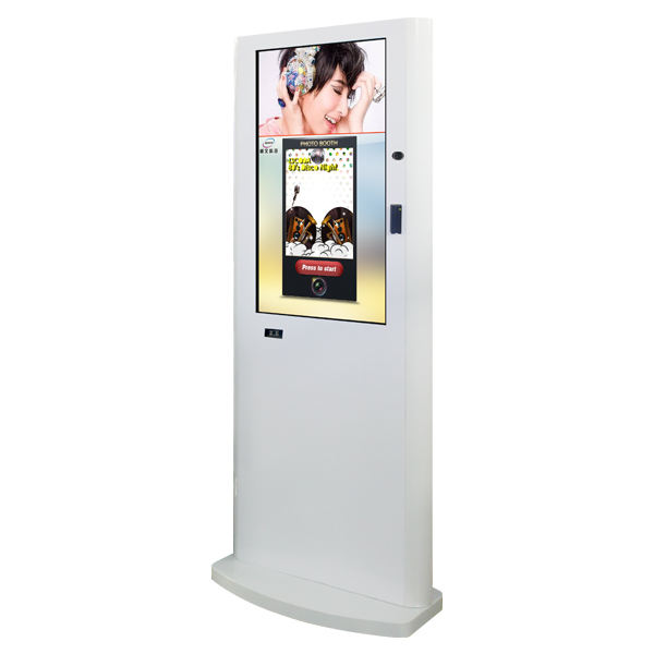 customized vending machine wireless network 3G photo booth kiosk for shopping mall