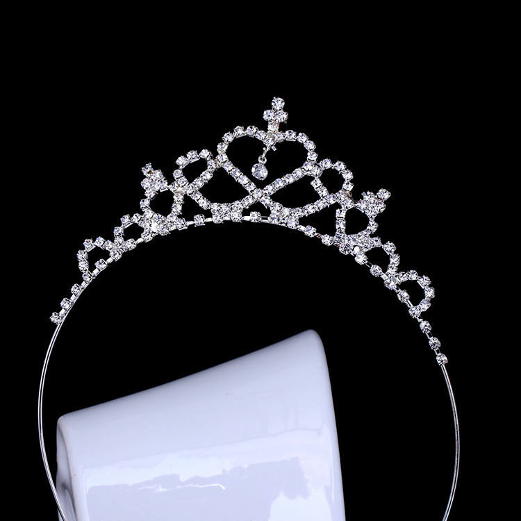 Wholesale Cheap Children Rhinestones Happy Birthday Tiaras for Girls