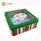 Tin Design Box Jewelry Custom Design Square Shape Tin Box with PVC Window for Jewelry Packaging